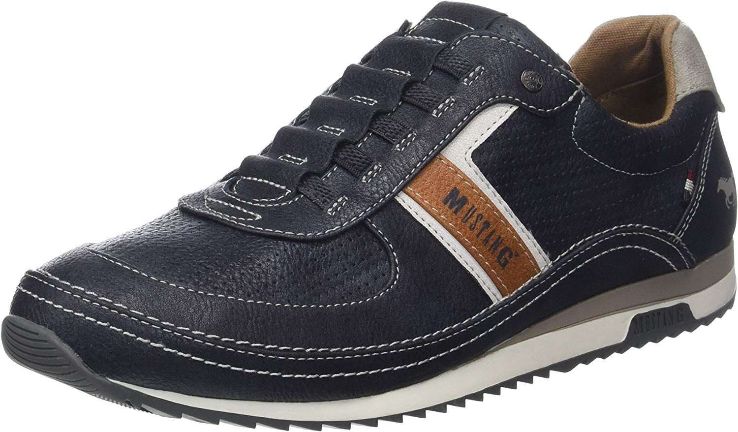 Mustang 4125 402 820, Baskets Enfiler Homme, Bleu (Navy), 43