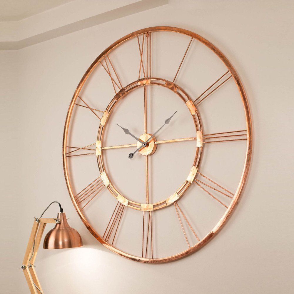 Amazon Com 100 Copper Made Handmade Large Wall Clock Home Decor