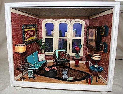 American Girl Mini Room Loft Apartment