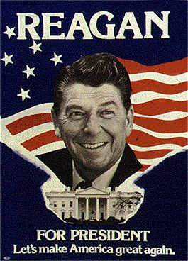 1980 campaign poster for Ronald Reagan | Cold war | Pinterest ...