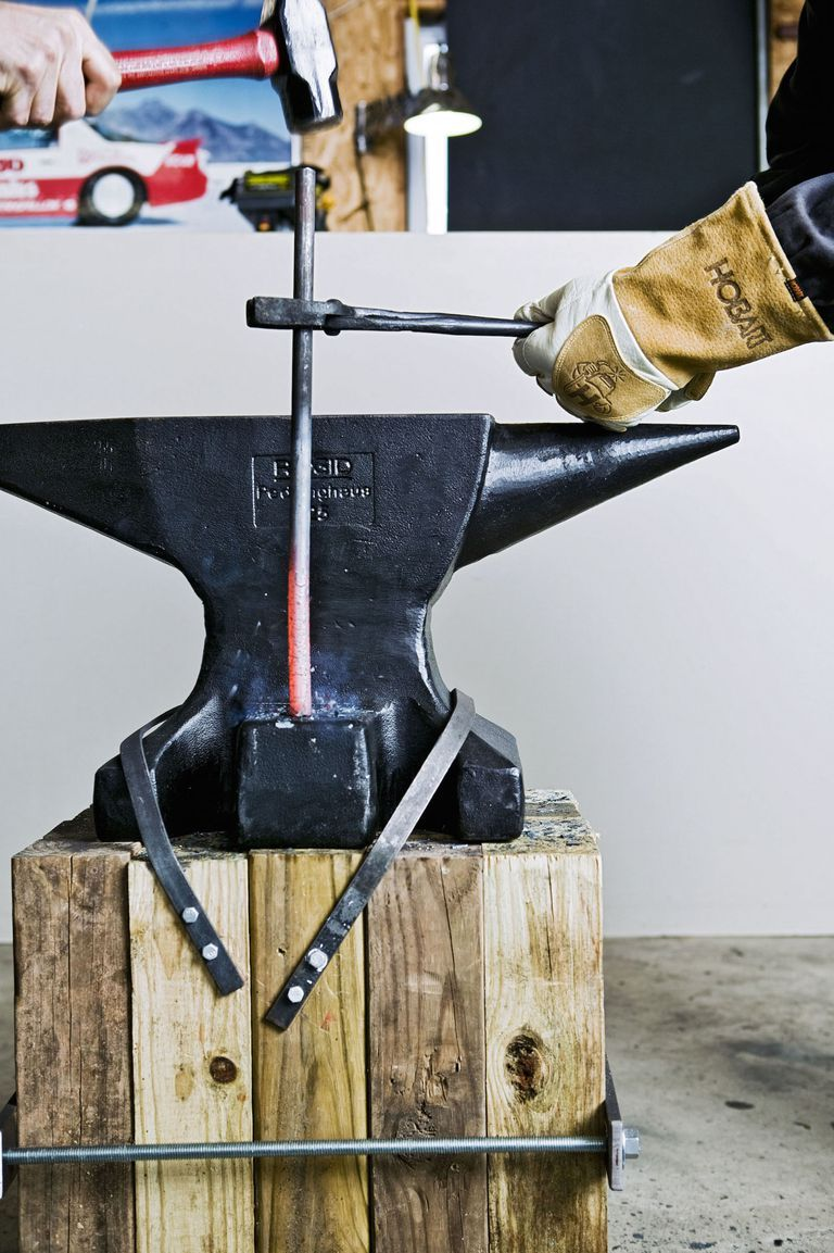 How to Make a Forge and Start Hammering Metal   Metal tree ...