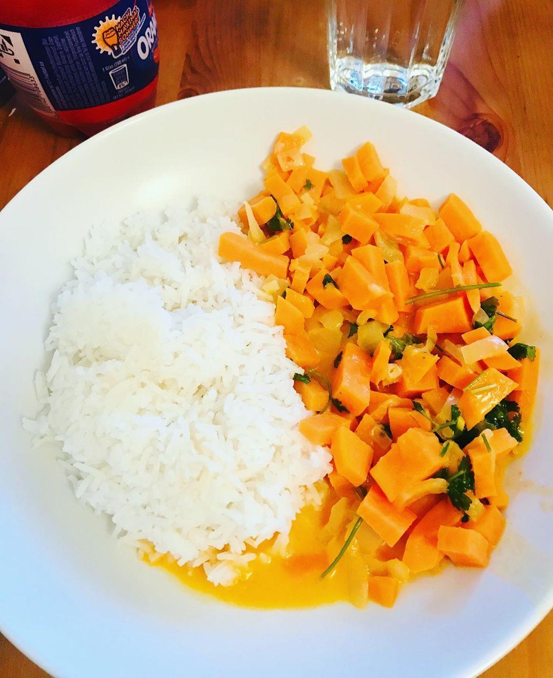 Wenn der Mann kocht ssskartoffel Curry mit Reis