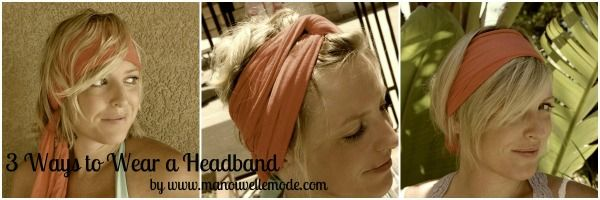 Ways to wear a #headscarf for #shorthair
