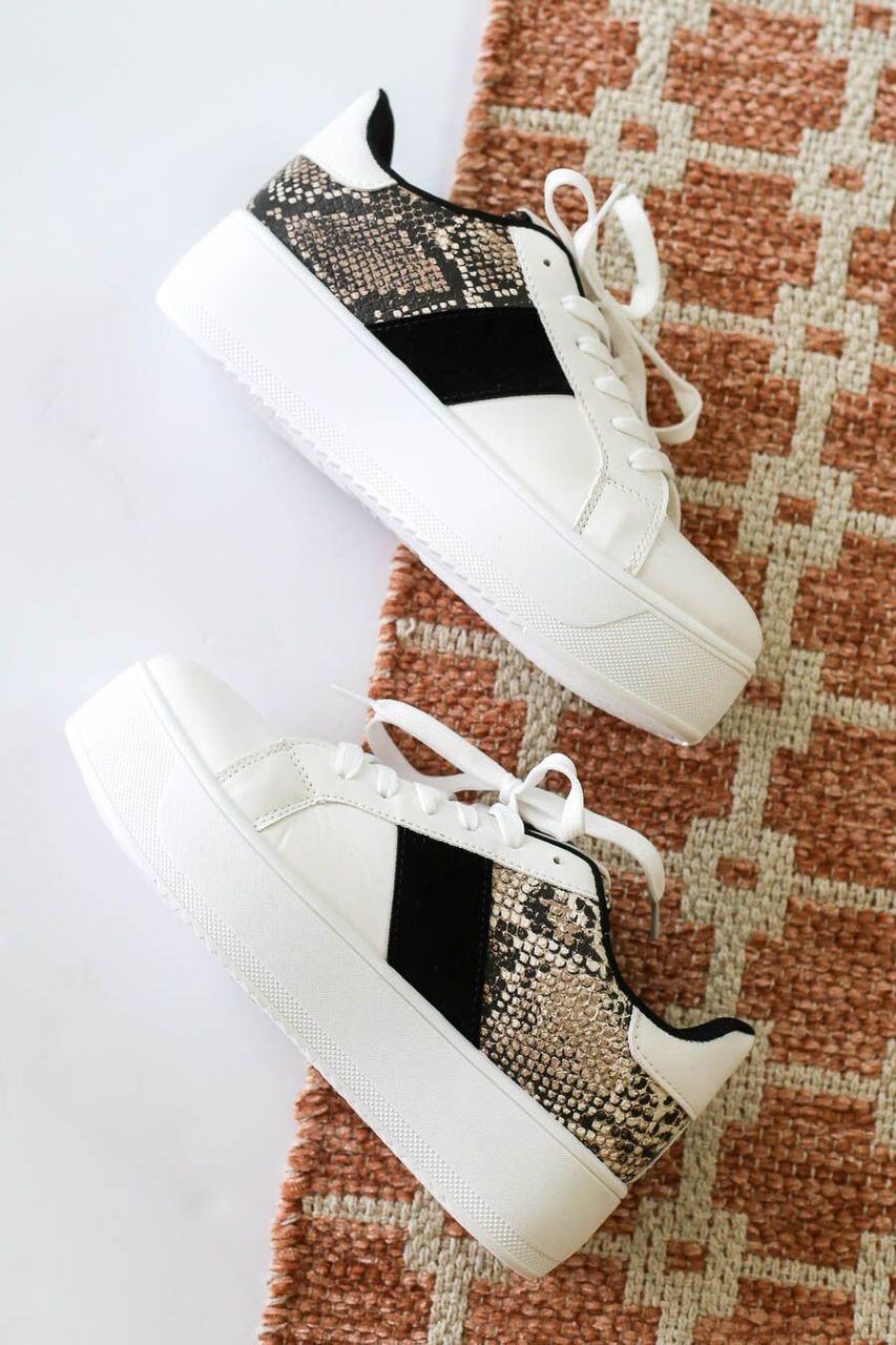 Venice Snakeskin Platform Sneakers