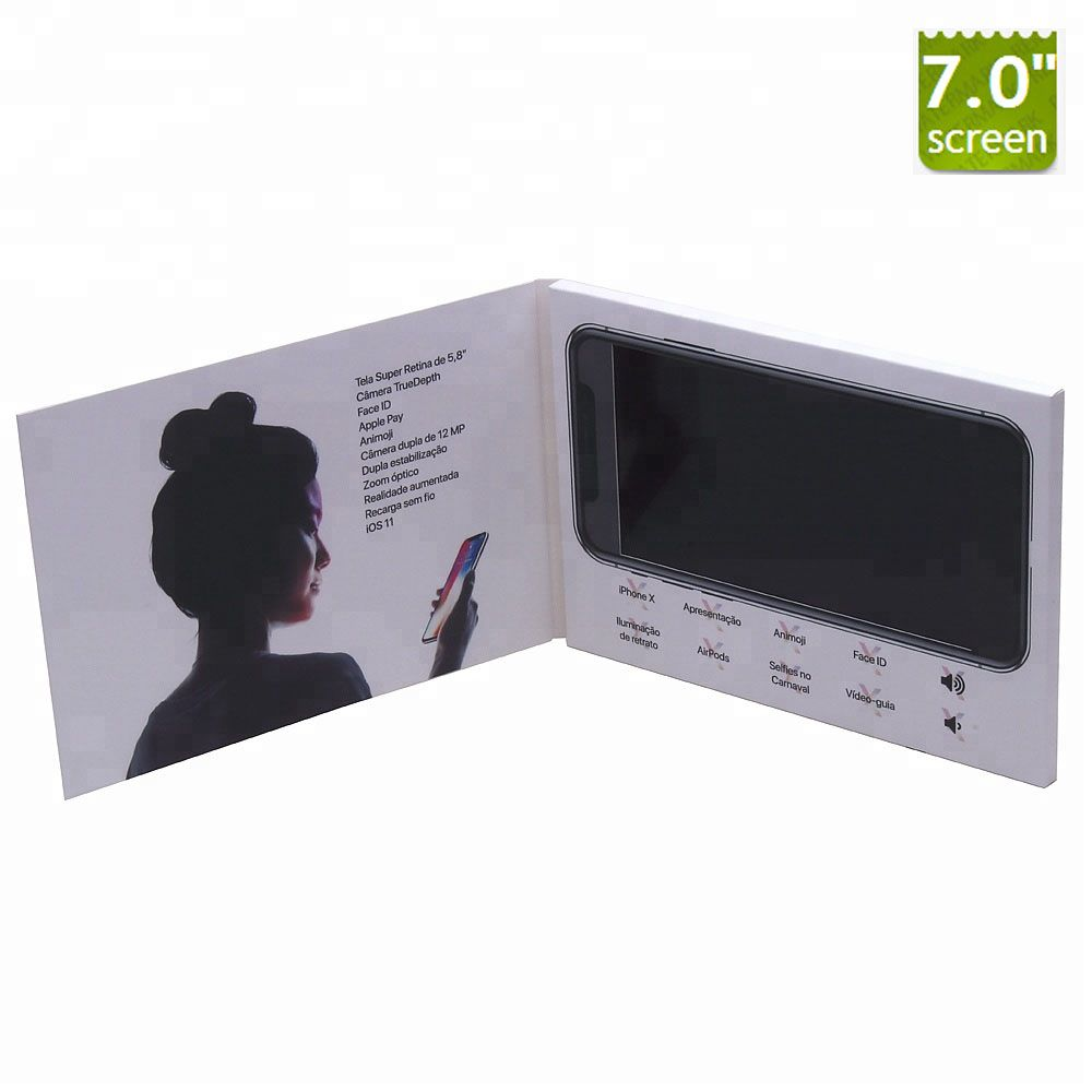 7 inch video brochurevideo greeting card for advertising