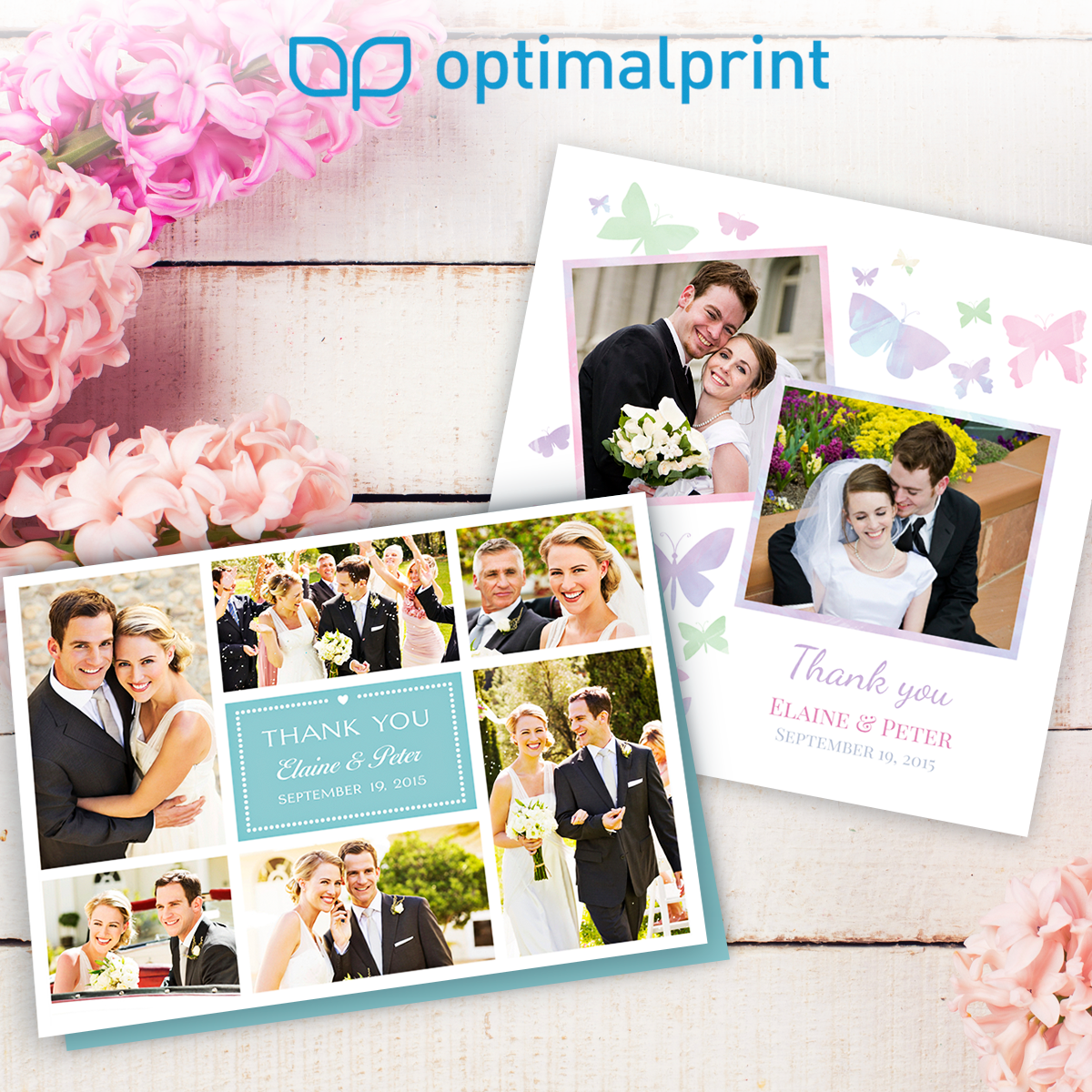 Personalised Wedding Thank You Cards By Optimalprint