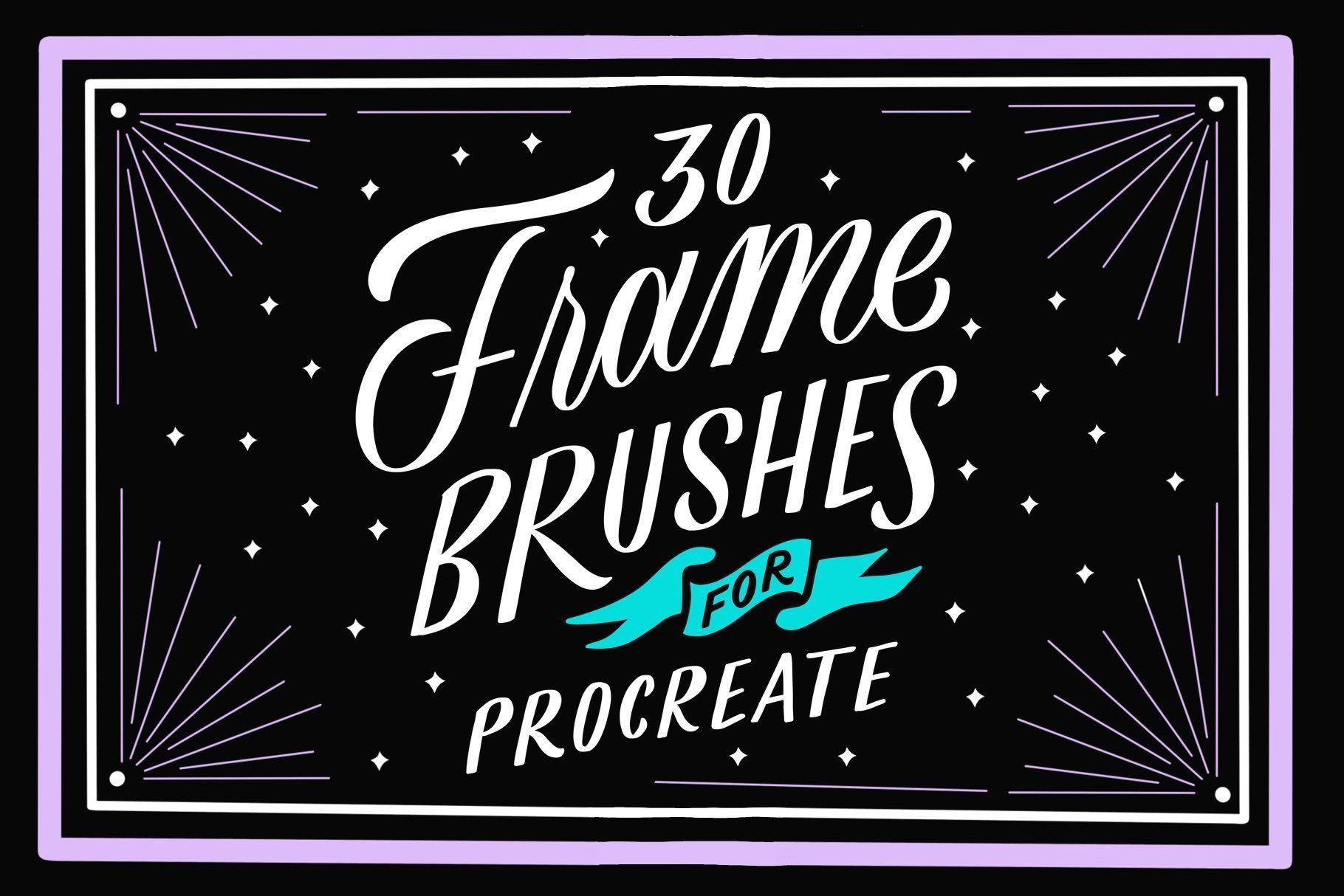 30 Frame Brushes For Procreate App Procreate App App Frame