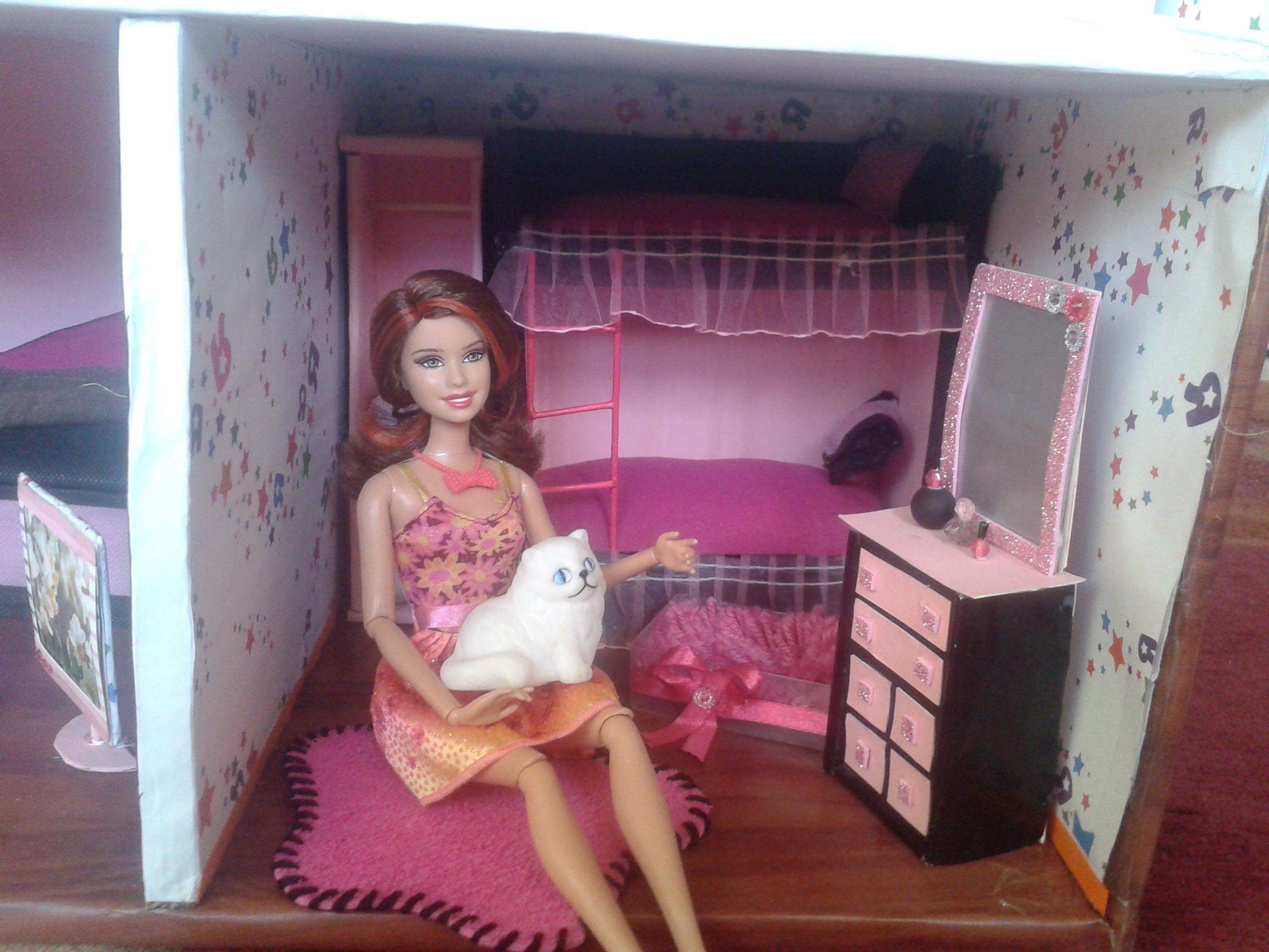 دول هاوس او بيت للدمى من أعمالي Beautiful Hand Made Doll House Crafts Diy Toddler Bed