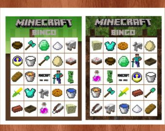 minecraft card game instructions pdf