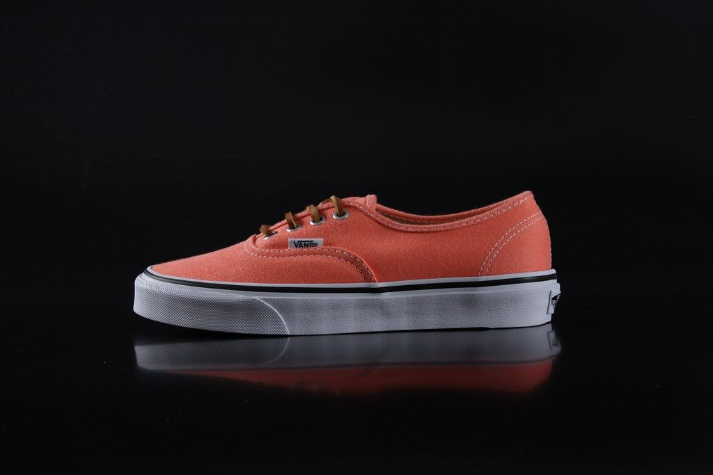 07b1b515c0 Vans Authentic Sneakers Brushed Twill Fresh Salmon VVOEAQH ...