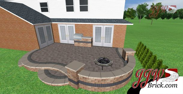 Lovely Brick Patio Ideas To Make Your Home More Beautiful : Brick Paver Patio,  Brick Front Patio Landscaping Ideas