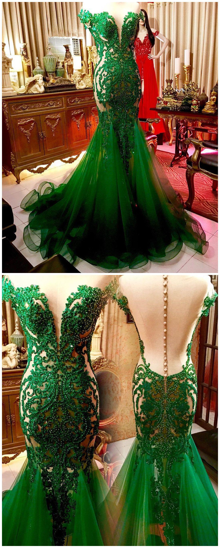 chic trumpetmermaid prom dresses hunter beading long prom