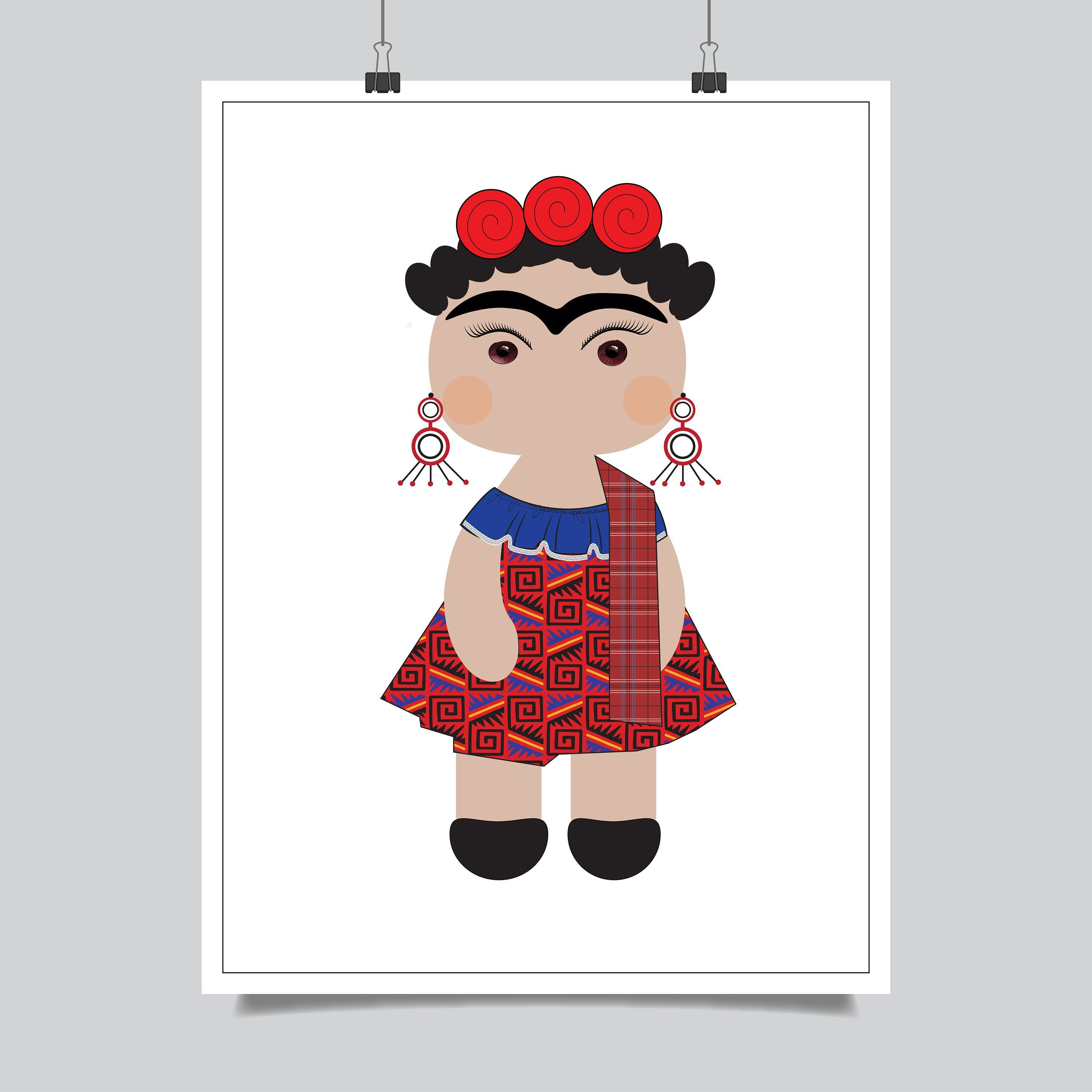 Frida Kahlo By Alyxsattic On Etsy