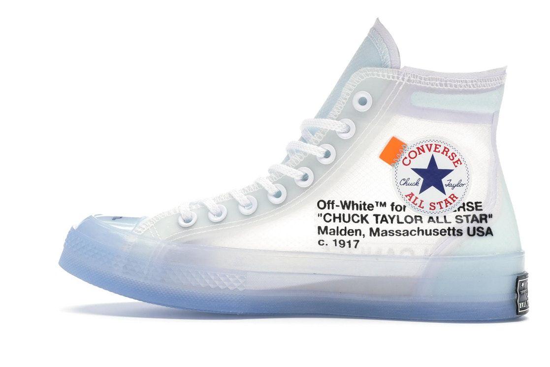 Converse Chuck Taylor All Star Vulcanized Hi Off White In 2020 Chuck Taylors Off White Converse Converse Chuck Taylor All Star
