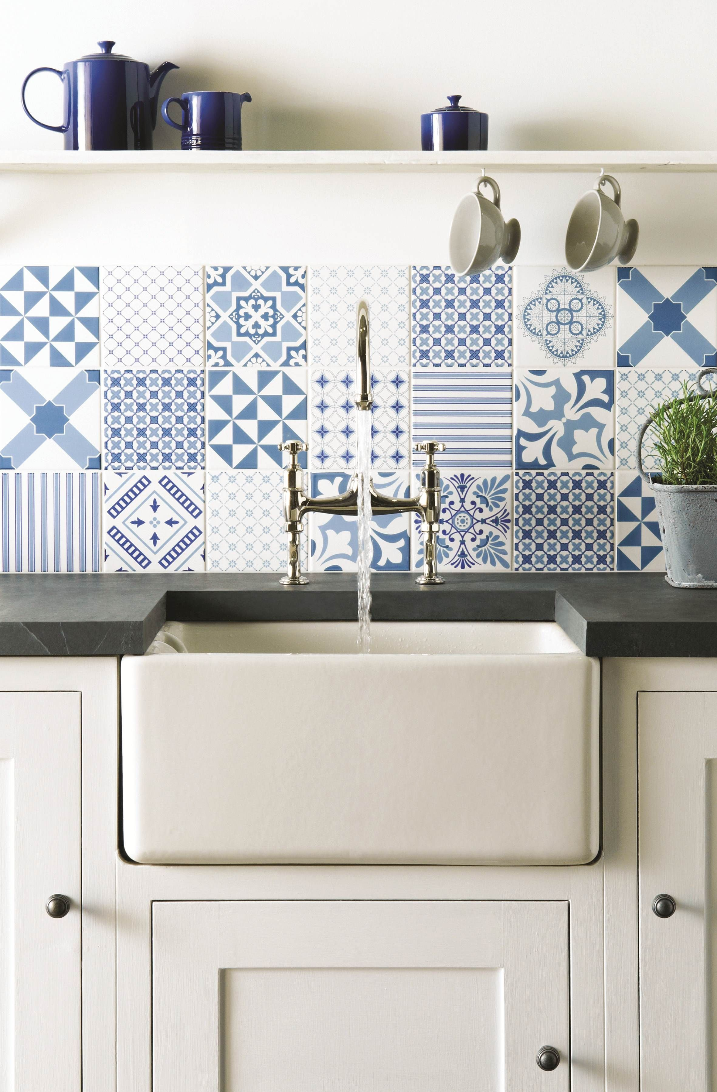 Fresh Blue Tapestry Patchwork Tiles From The Odyssey Collection By