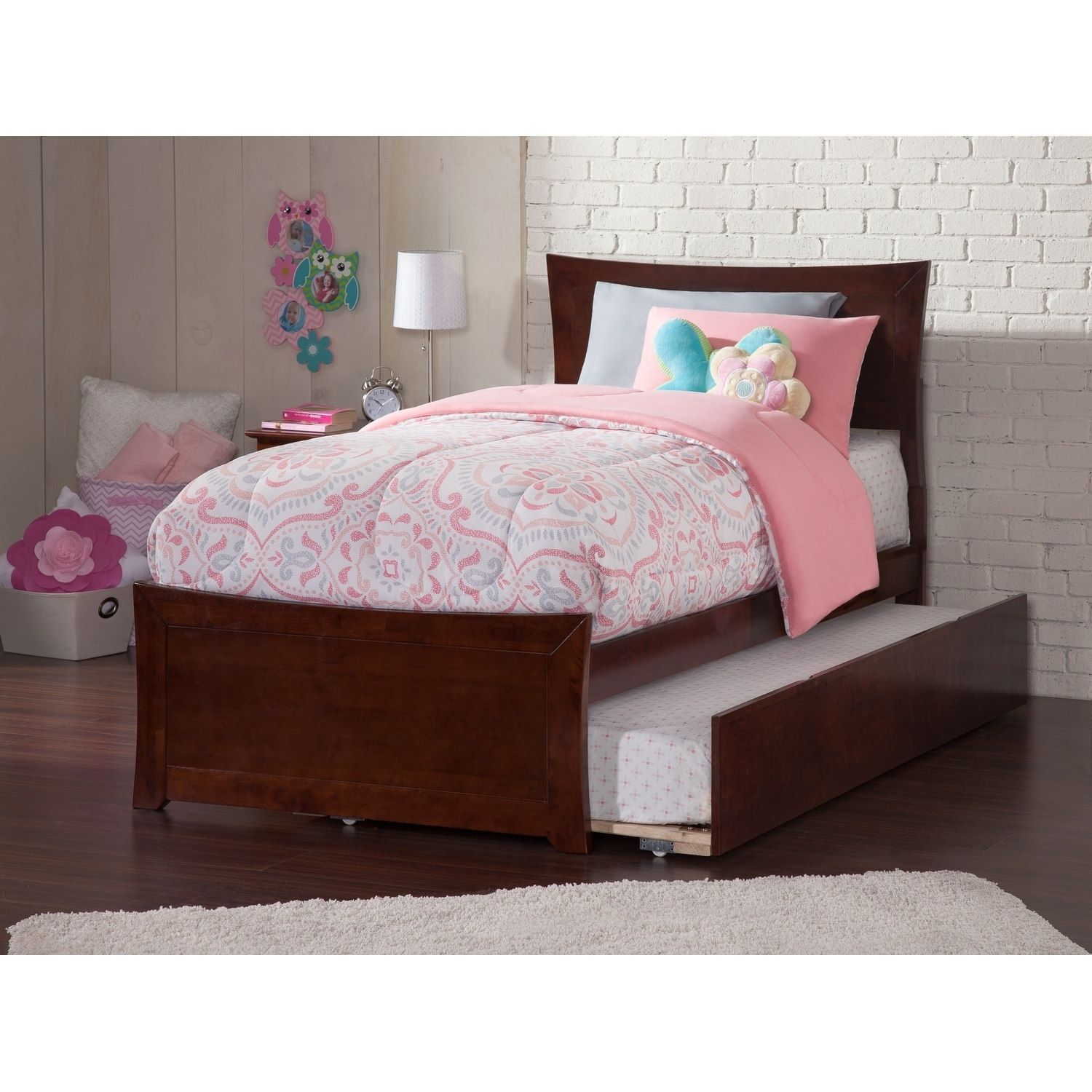 Atlantic Furniture Metro Twin Bed with Matching Foot Board with