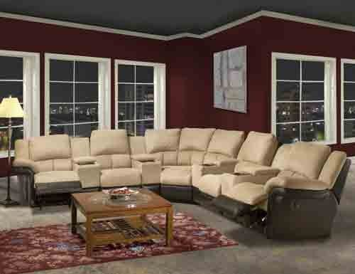 Home Theater Sectional 7pc Group : theater sectional seating - Sectionals, Sofas & Couches