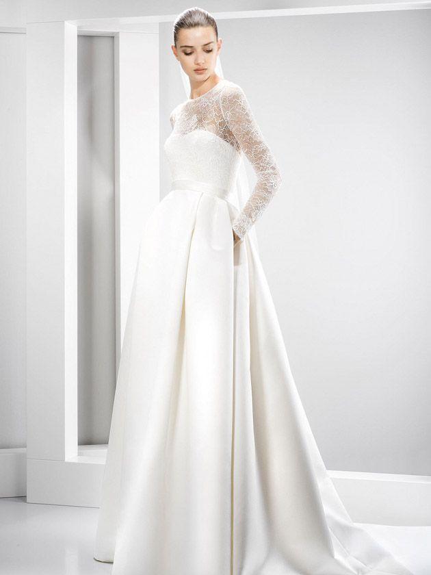 Couture-Brautkleider von Top-Designer wie Rosa Clará, Oscar de la ...