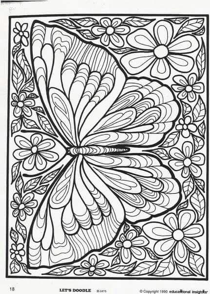 Kelebek Boyama Adult Coloring Pages Boyama Sayfalari Kelebekler