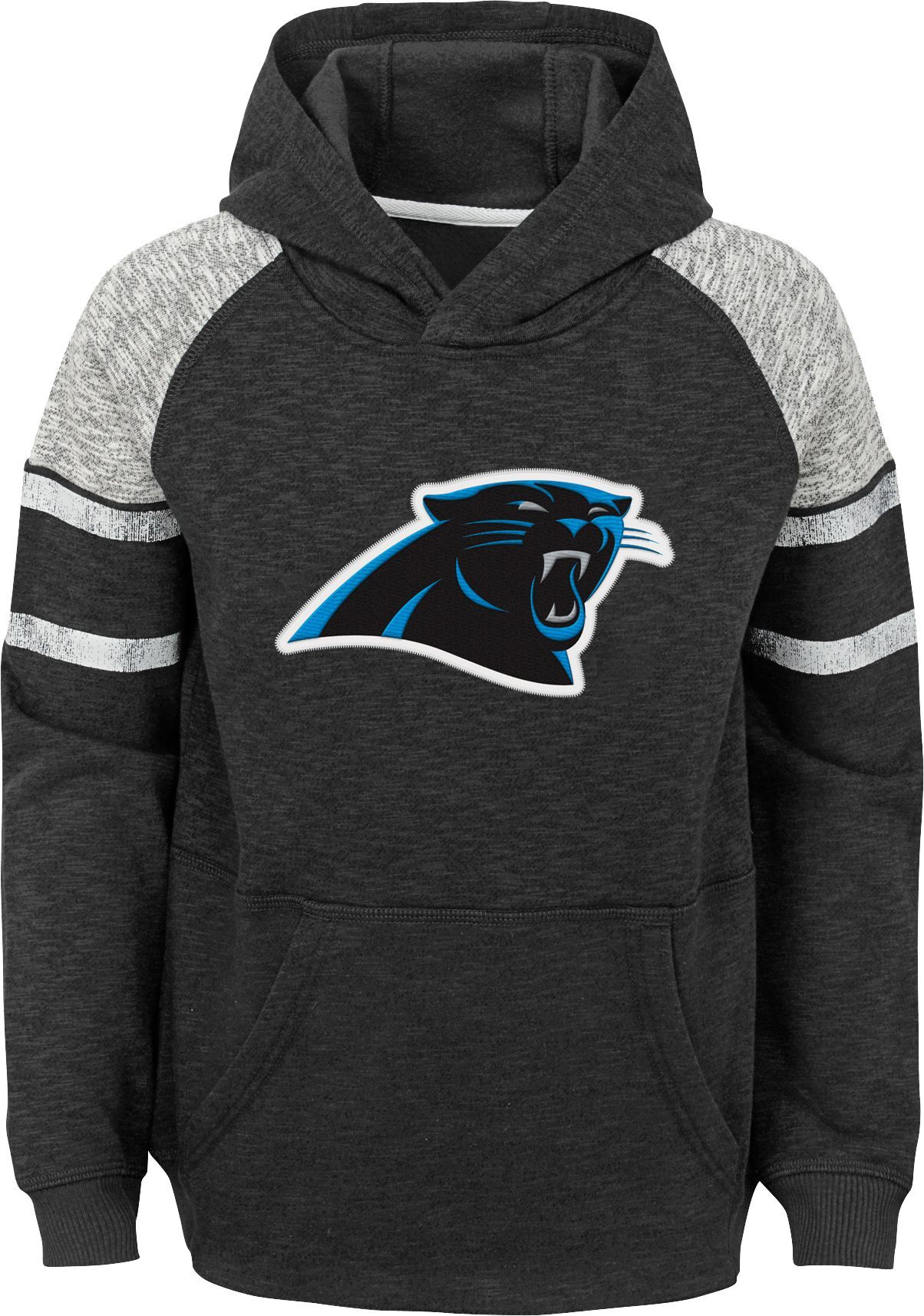 online retailer cdc35 a877e Team Apparel Youth Carolina Linebacker Black Pullover Hoodie ...
