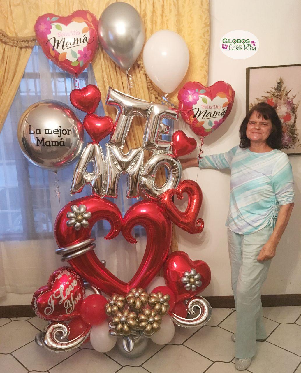 La Mejor Mamá Decoración Con Globos Cumpleaños Decoración Con Globos Globos