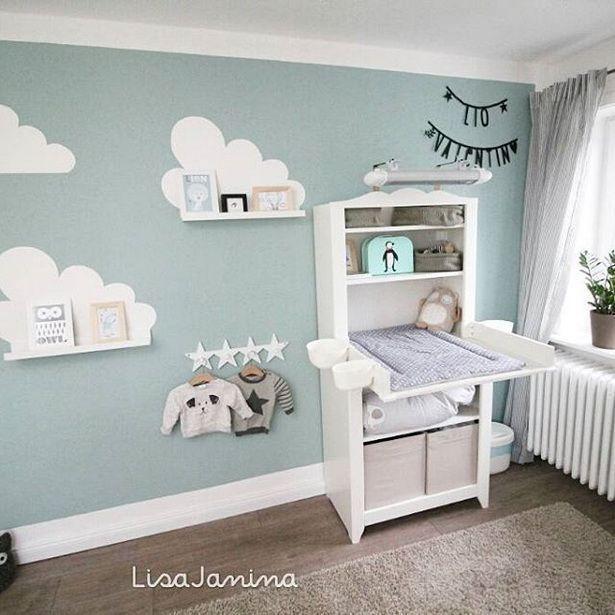 Streifen In Blautonen Im Babyzimmer Kinderzimmer
