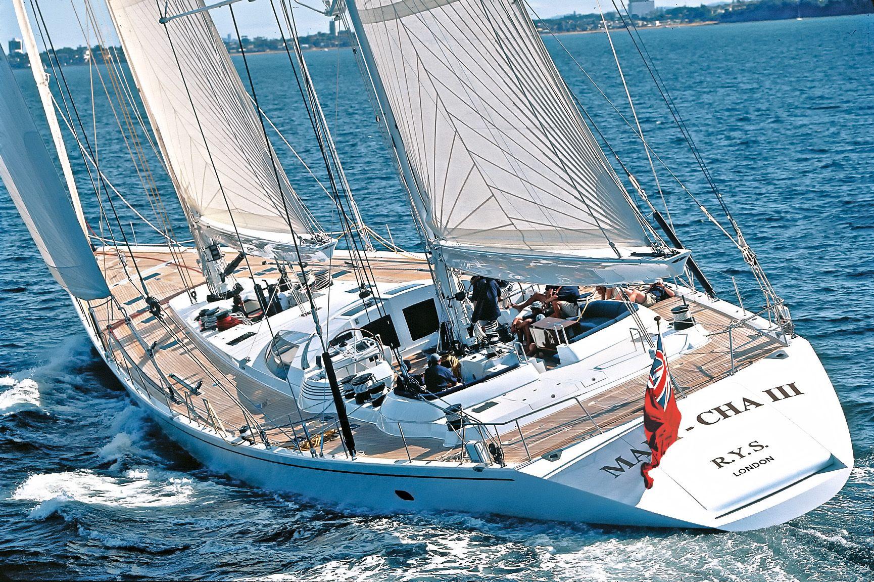 SY. Mari Cha III under sail...