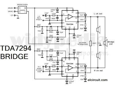 Bridge TDA 7294 Power Amplifier | วงจรต่างๆ | Pinterest | Bridge ...