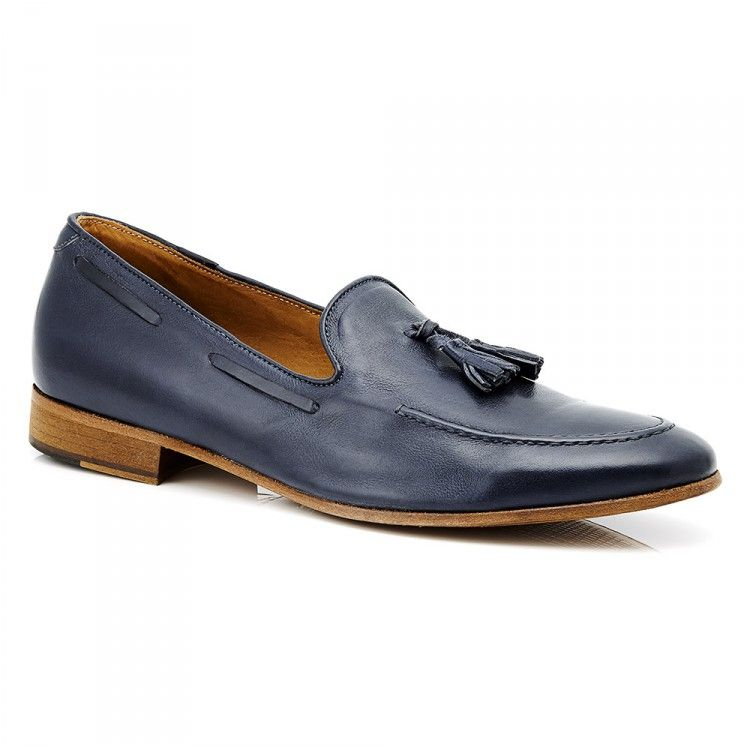 Men's Leather Loafers #aquila #loafer #tassel #fashion #leather #leathersole #summer #Brayshaw #Blue