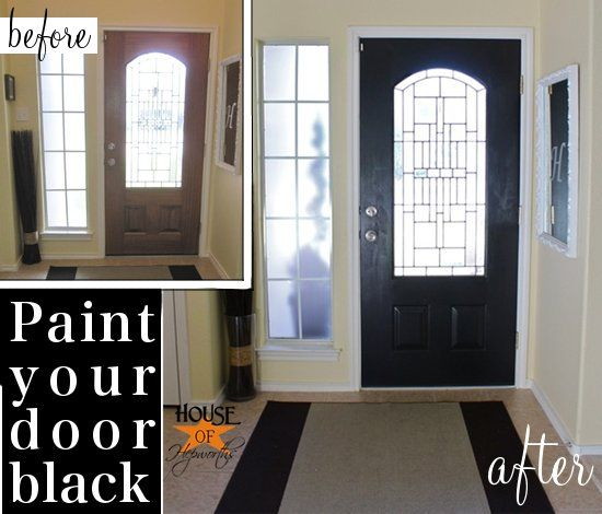 Black Painted Front Door Houseofhepworths Black Painted