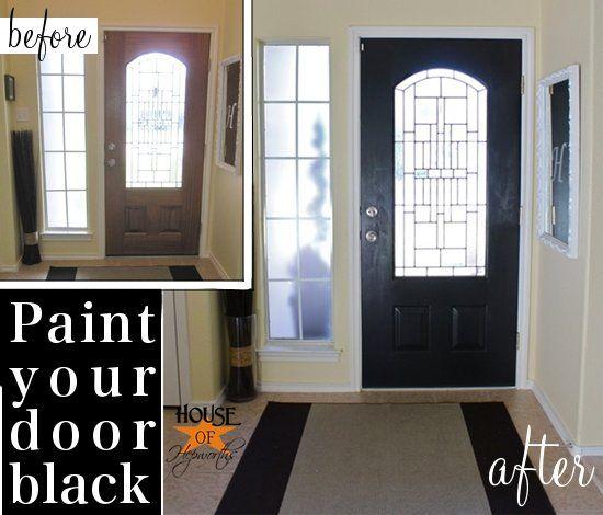 Black painted front door @ houseofhepworths.com #black #painted ...
