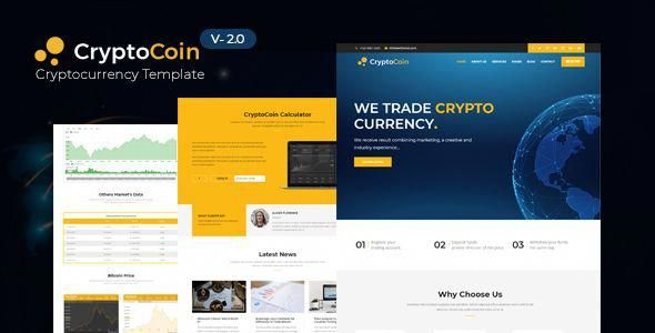 Cryptocoin Is A Modern Digital Currency Trading Template For Your Website That Perfectly Fits Any