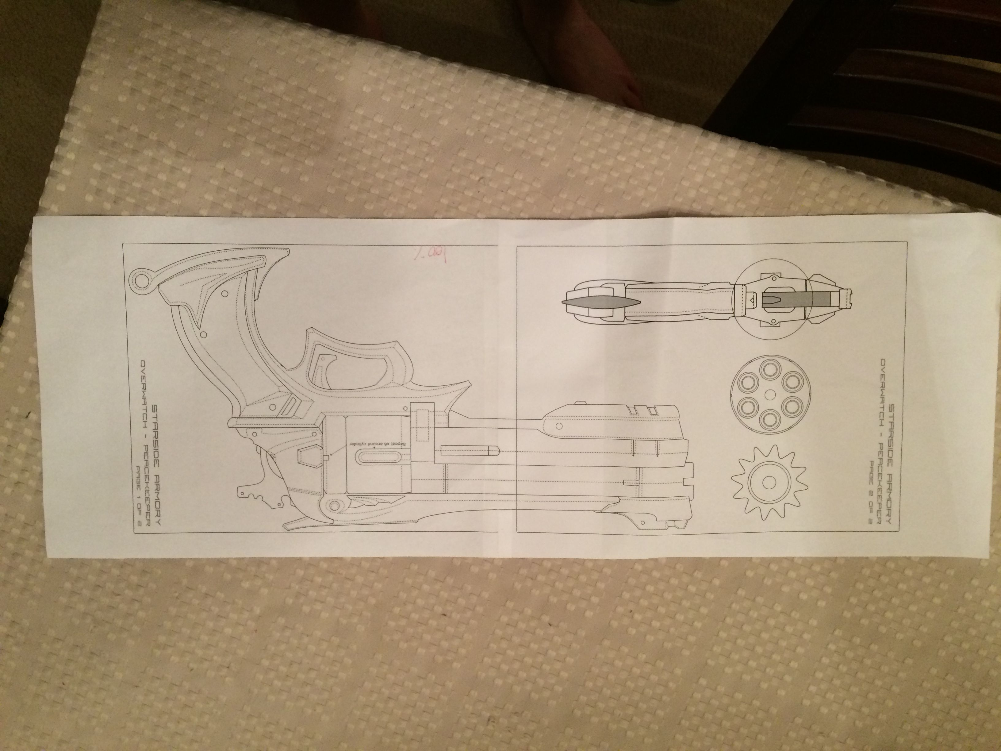 Mccree pistol blueprint ready to be made in foam mccree pinterest mccree pistol blueprint ready to be made in foam malvernweather Image collections