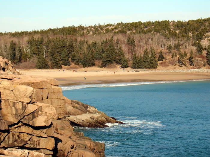 Sand Beach Maine Along The Park Loop Road Acadia National