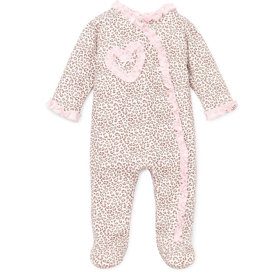 little me  baby leopard print footie 1600 httpwww