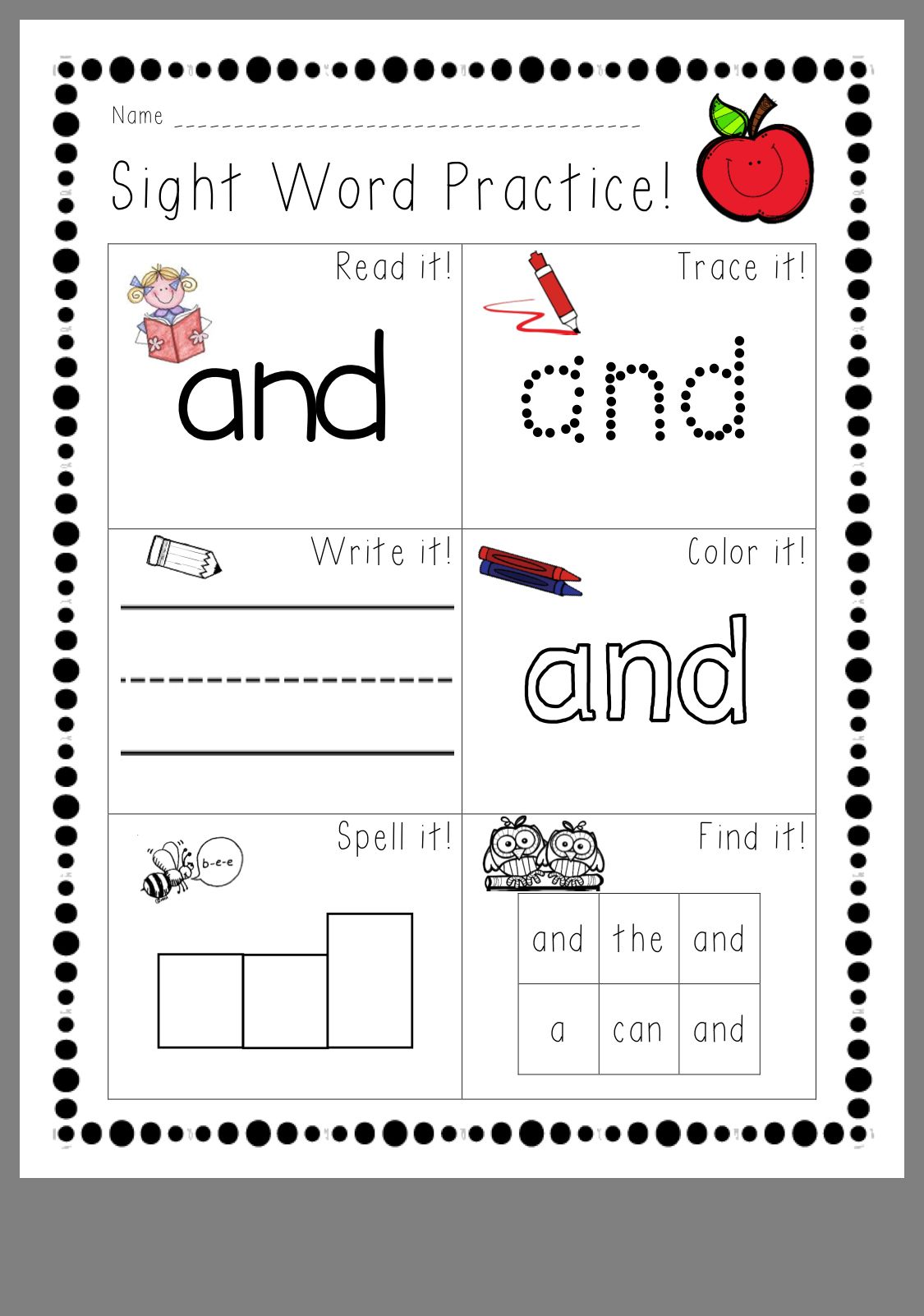 Pin By Jean Rotering On Sight Words