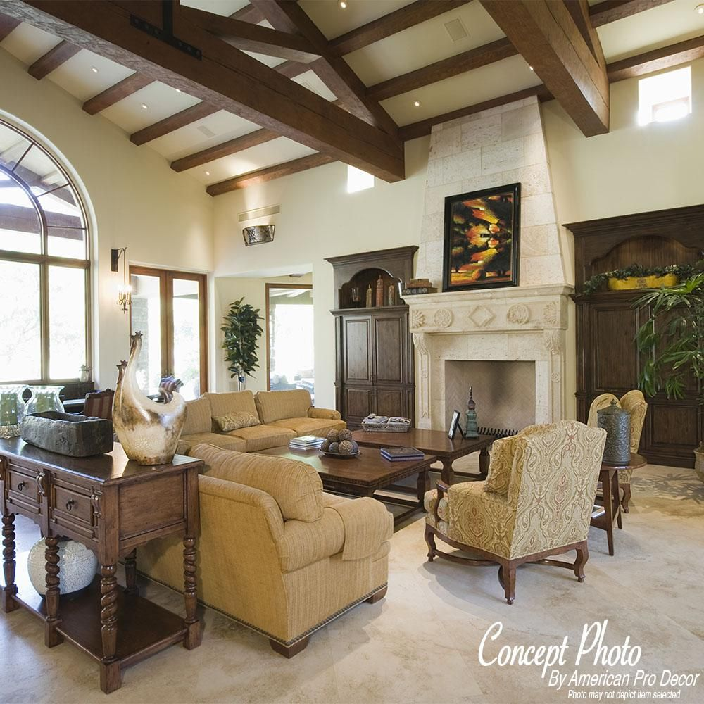 16 Absolutely Gorgeous Mediterranean Dining Room Designs: American Pro Decor 2-1/4 In. X 4-3/8 In. X 13 Ft. L Dark