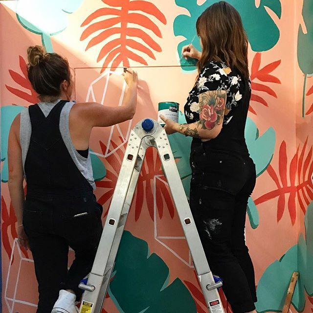 Creating a tropical paradise for our friends at @paradeigm! Stay tuned for final photos 🙌 #sandiegoconnection #sdlocals #encinitaslocals - posted by phoooebers https://www.instagram.com/phoooebers. See more post on Encinitas at http://encinitaslocals.com