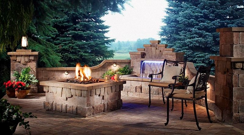 Lovely A Simple And Small Water Feature For The Contemporary Patio