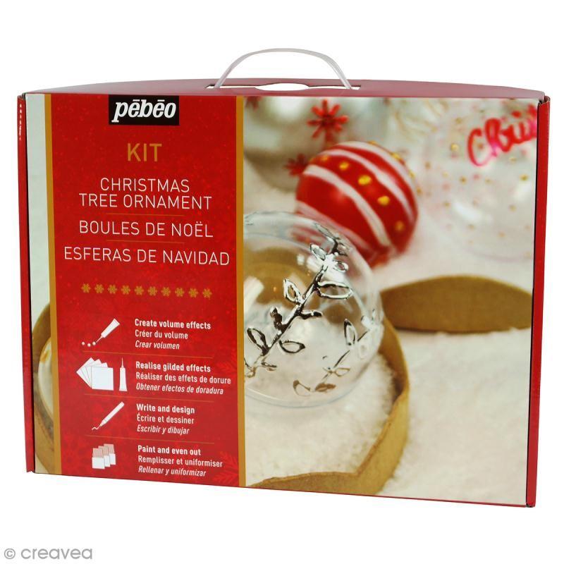 Kit création boules de Noël Pébéo   Boules à décorer   Creavea