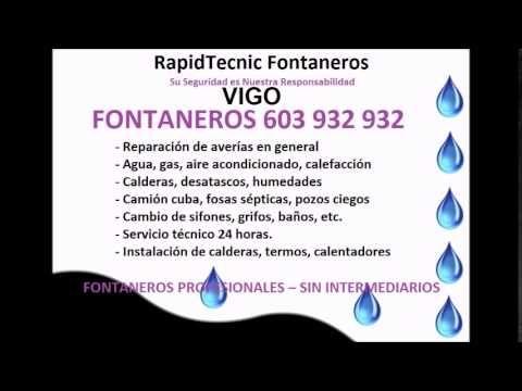 Fontaneros VIGO 603 932 932 Baratos