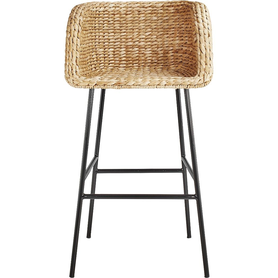 Shop Silas Seagrass Counter Stool 24 Natural Seagrass Forms