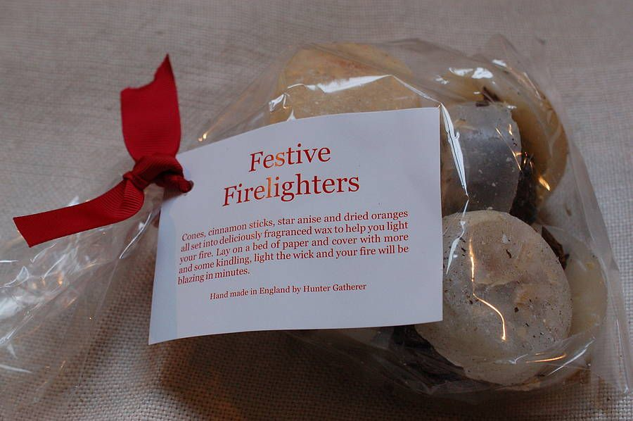 Eight festive scented fire lighters firelight great