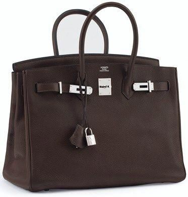 A Chocolate Togo Leather Birkin 35 With Palladium Hardware Hermes 2008 Hermeshandbags Hermes Birkin Chocolate Hermes Bag Birkin Hermes Birkin