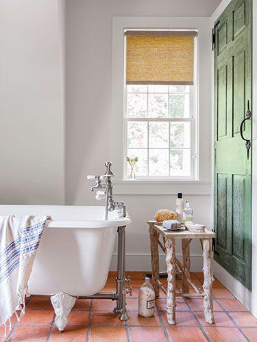 Pin By Meagan Lee On Baths Beautiful Tile Bathroom Terracotta Tiles Bathroom Bathroom Floor Tiles