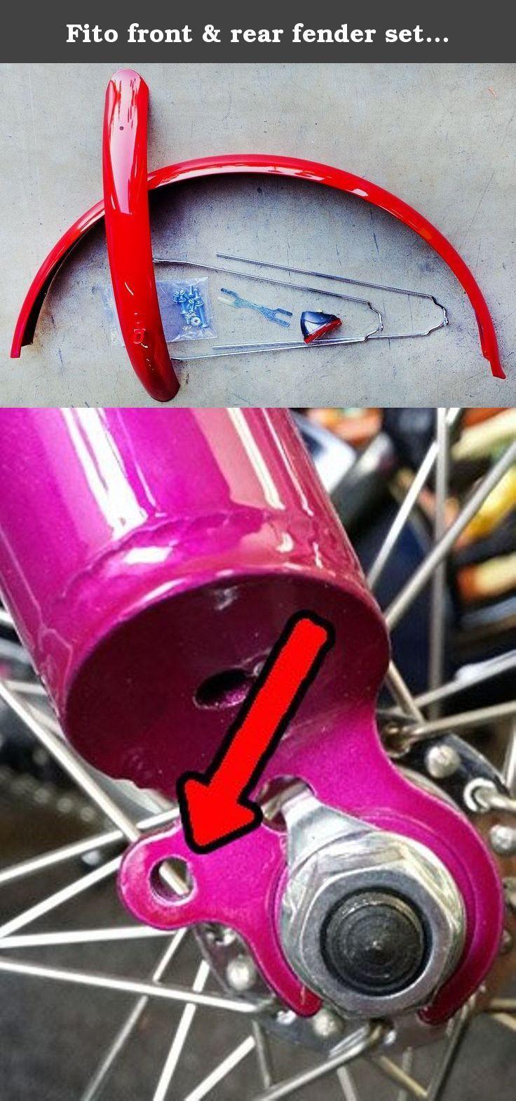 Fito front & rear fender set (Red) for Marina, Modena, Verona ...