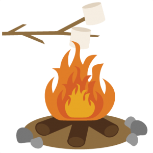 Wood Campfire Outdoor Bonfire Fire Burning Wooden Logs And Camping Stone Fireplace Firewood Flames Burn Cam Cartoon Illustration Fire Drawing Smoke Drawing