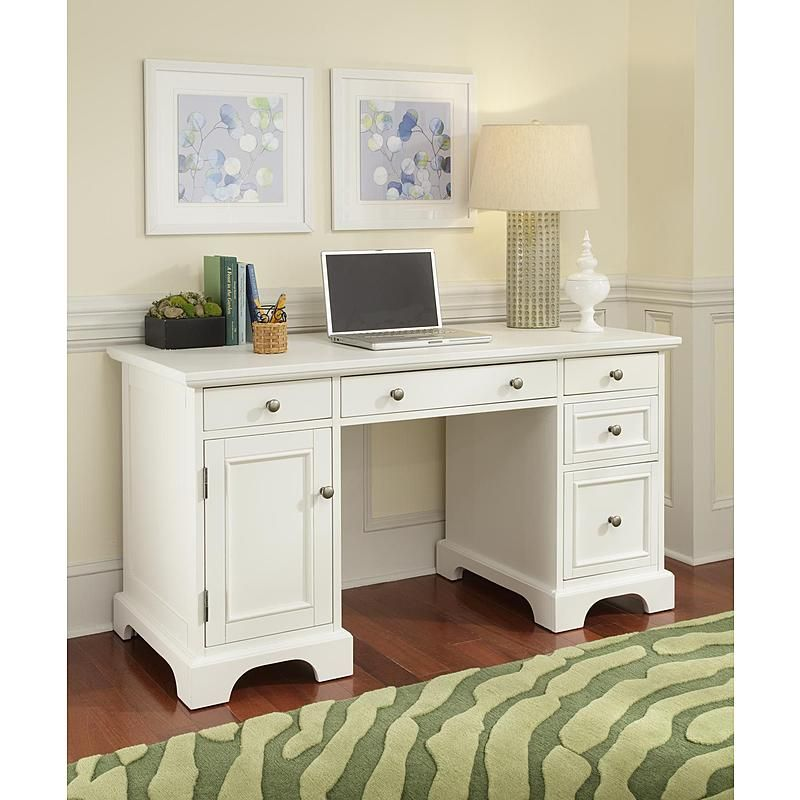 Home Styles - 5530-18 - Naples Pedestal Desk | Sears Outlet