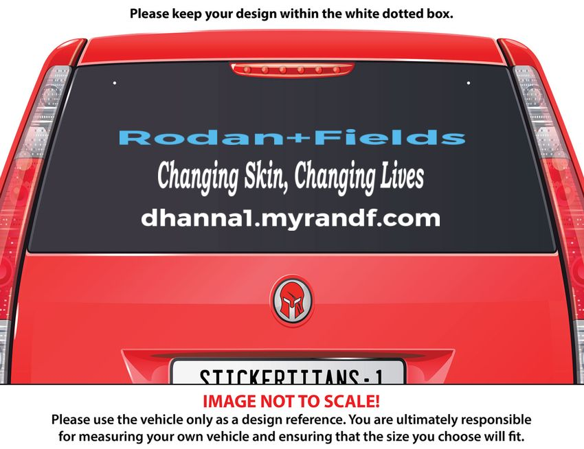 RodanFields Dhannalmyrandfcom StickerTitanscom - Custom rear window decals for cars