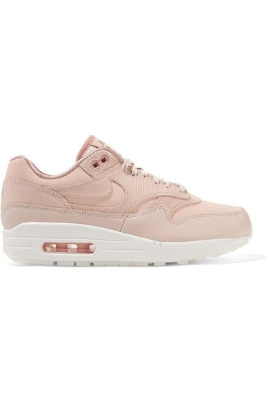 dd8173cefa1fd2 Nike - Air Max 1 Premium Suede-trimmed Leather Sneakers - Pastel pink